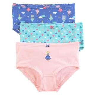 BNIB Carters 3-Pack Stretch Cotton Undies Girl