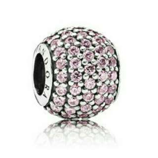 Autjentic Pink Pave Ball