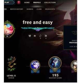 Collector's Account for LoL