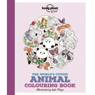 ☺ [ Brand New ] The World's Cutest Animal Colouring Book (Lonely Planet Kids) By: Lonely Planet Kids, Jen Feroze, Lulu Mayo (Illustrator)  Paperback