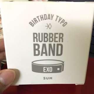 EXO SEHUN BIRTHDAY RUBBER BAND OFFICIAL