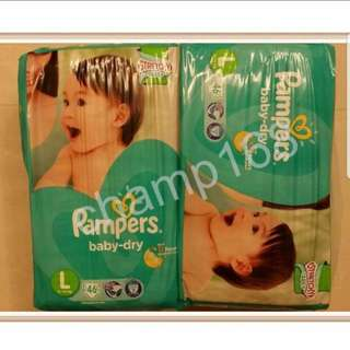 Pampers Baby Dry Tape Diapers L54