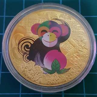 Monkey Gold Coin