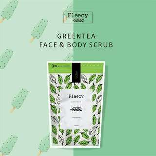 Fleecy green tea scrub / lulur