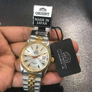 Classic Orient Half Gold Jubilee Strap Automatic Sapphire Crystal MADE IN JAPAN BRAND NEW