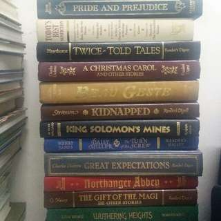 Limited edition hard cover english classics