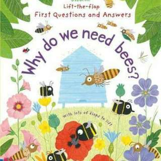☺ [ Brand New ] Lift-The-Flap First Questions and Answers : Why Do We Need Bees? (Lift the Flap First Questions and Answers)  By: Katie Daynes, Christine Pym (Illustrator)  Board Book