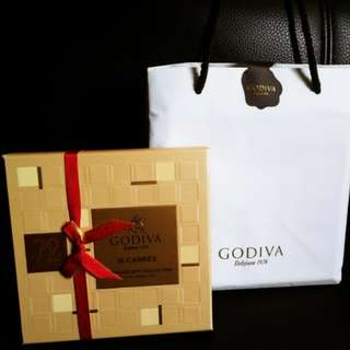 Godiva 72% Dark Chocolate 16片朱古力 禮盒  (原價$205)