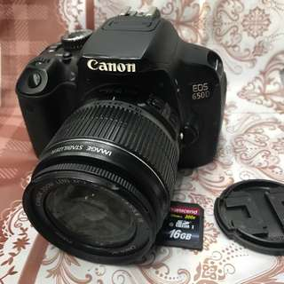 Canon 650d eos 18mp and touch lcd with 18-55mm and accessories (19k clicks only)