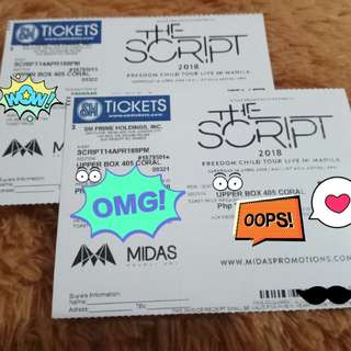 Upperbox Ticket - The Script Live in Manila April 14