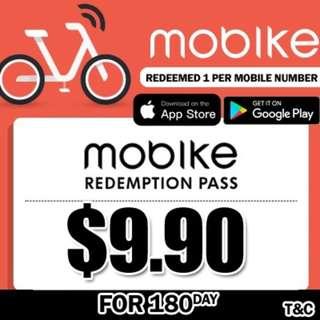 Qoo10 Mobike voucher 180days