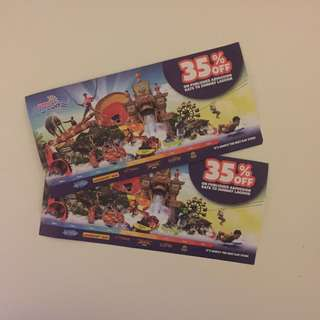 Sunway Lagoon 35% voucher worth RM 252 to ALL PARKS