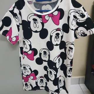 Mickey mouse casual t-shirt