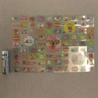 Animals hamster rat stickers 倉鼠 動物 貼紙