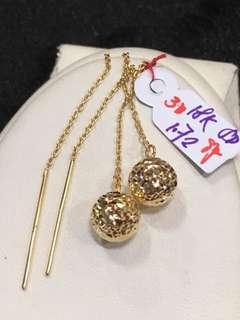 18k SD Gold Tictac Earrings 2,150 per gram