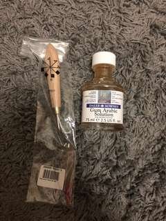 Gum Arabic and Paint Knife