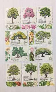 Singapore 2010 know 10 trees mnh