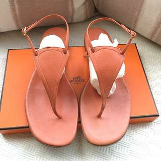 Hermes   leather sandals shoes   *Made in Italy @Size 37-1/2