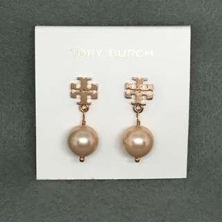 Tory Burch Sample Earrings 玫瑰金色吊珍珠耳環