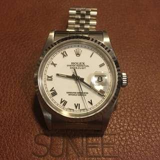 Rolex 16234 羅馬面天文台手錶