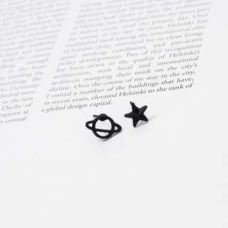 🎠星星 星球 烤漆耳環