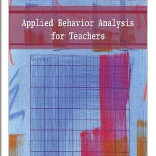 Applied Behaviour Analysis for Teachers