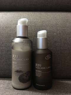 The Face Shop Jeju pore lotion and serum