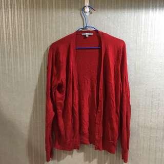 Uniqlo 夏季 薄罩衫 外套 紅