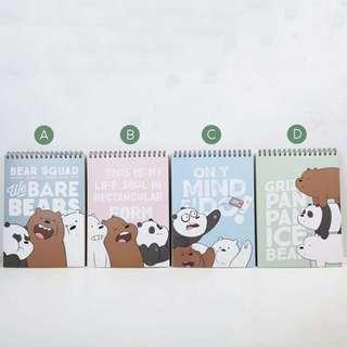 Bare Bears Spiral Sketch Book A4