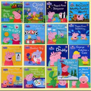 Lot of 16nos Peppa pigs story book
