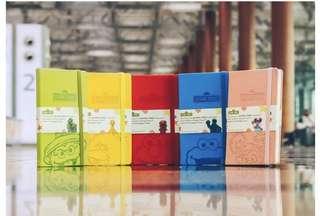 Brand New Full set of 5 Sesame Street Notebook