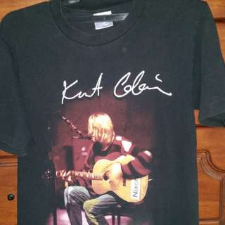 Vintage Kurt Cobain Nirvana signature Jack Purcell t-shirt