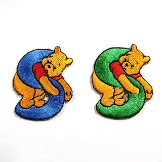 "Iron On Patch/ Applique ↪ Alphabet Pooh ""S"" ↔️ 💱 $2.00 Each Alphabet"