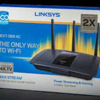 Brand new Linksys max stream AC1900 Router