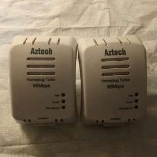 Aztech 85Mbps homeplug