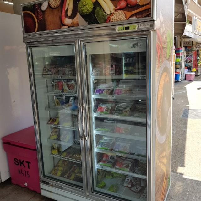 2door upright display freezer