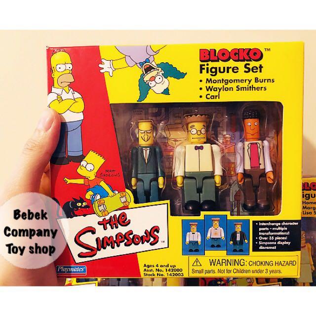 第3組》2002年 Playmates Blocko The Simpsons 辛普森家庭 辛普森 全新盒裝 絕版玩具