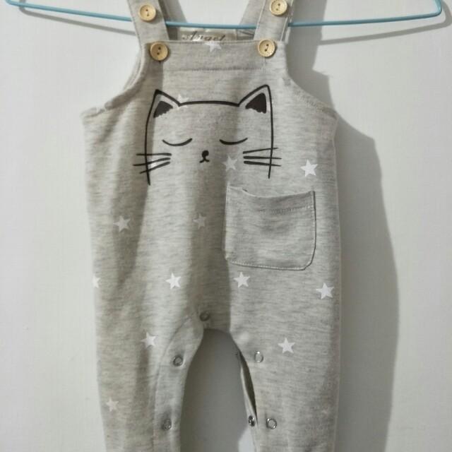 貓咪吊帶褲