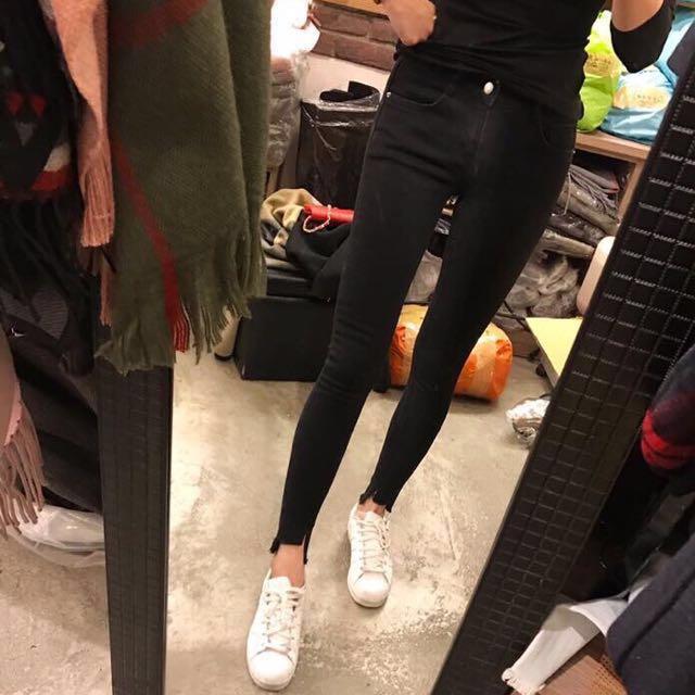 (全新)正韓超瘦黑褲