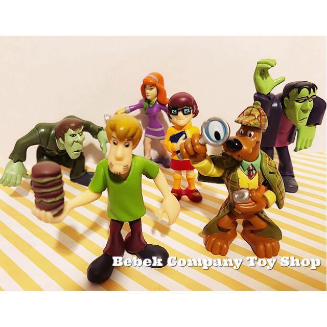 一大堆合售 2008 Lot of Scooby doo figures 史酷比 叔比狗 卡通頻道 CN 絕版 二手玩具