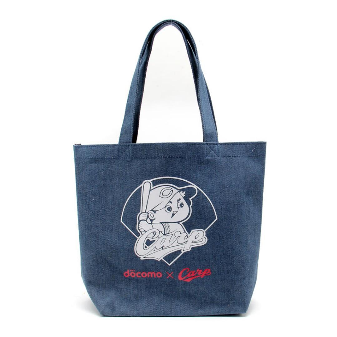 日本職棒 廣島東洋鯉魚隊 聯名  NTT DOCOMO 特製 藏青色 手提托特包 購物袋