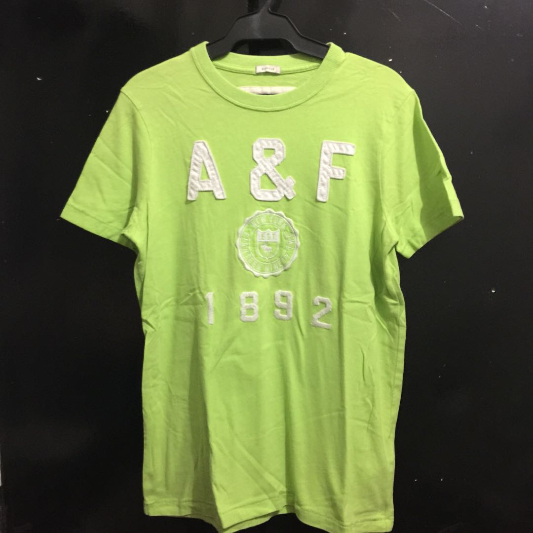 Abercrombie & Fitch Neon Green Muscle Fir T Shirt (Large)