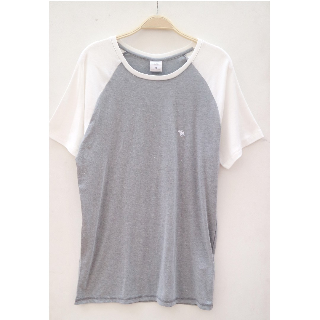 Abercrombie & Fitch Tshirt Grey White