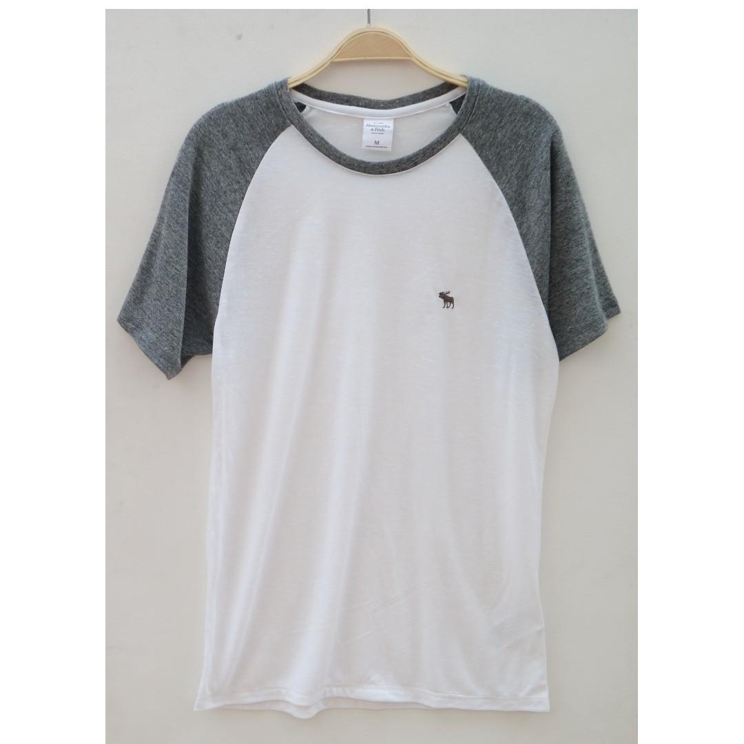 Abercrombie   Fitch Tshirt White Grey 6c1727b2b4