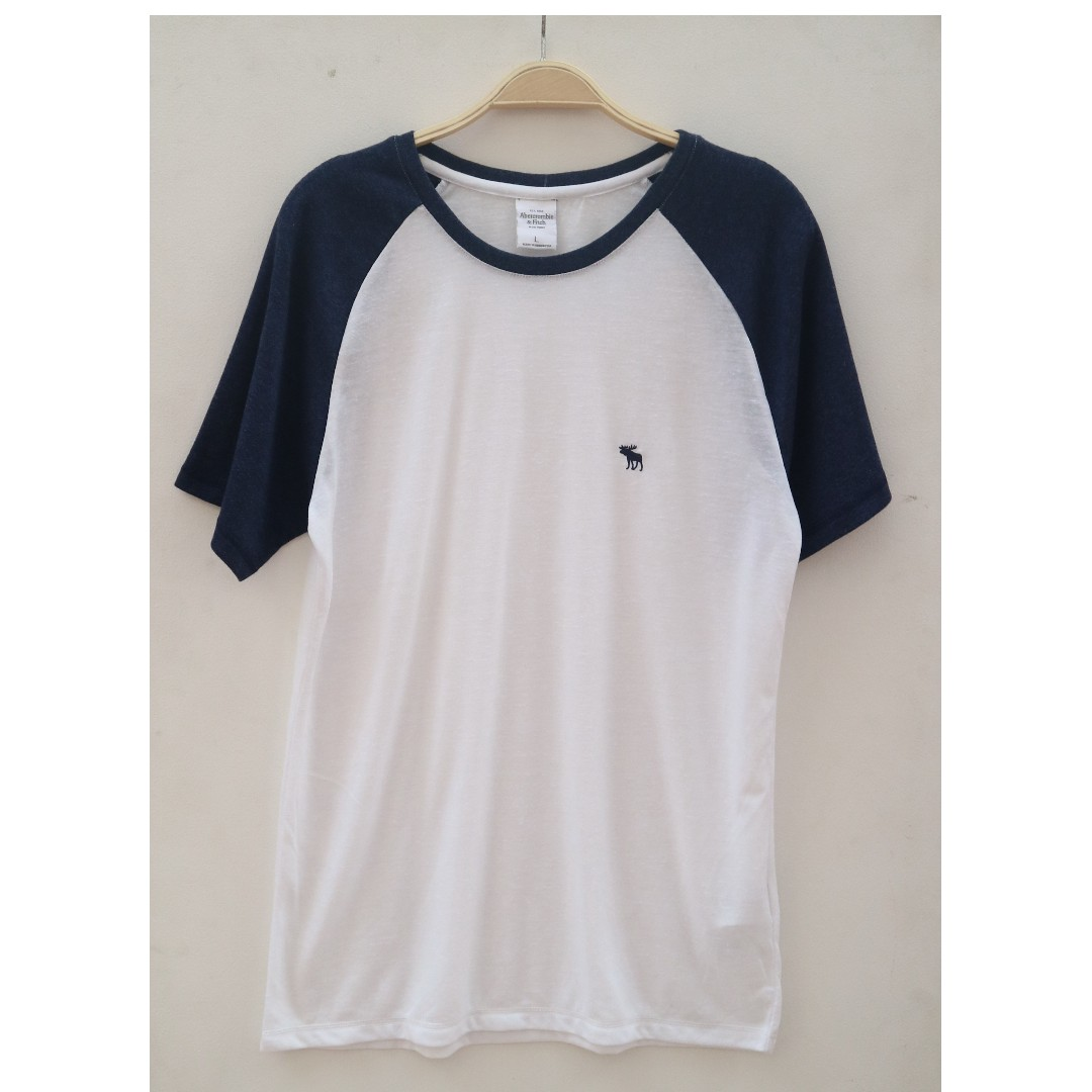 Abercrombie & Fitch Tshirt White Navy