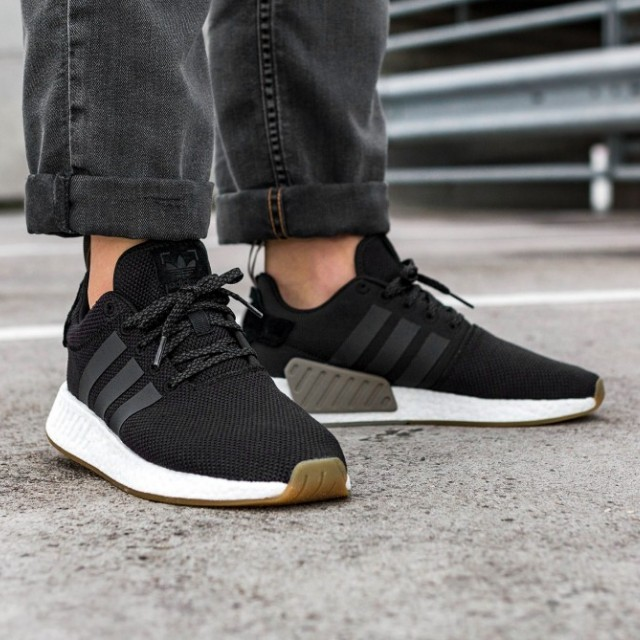 best website 2d47b 81d5e 2 pairs UK8 Adidas NMD R2 PK Utility Black Gum, Mens Fashion