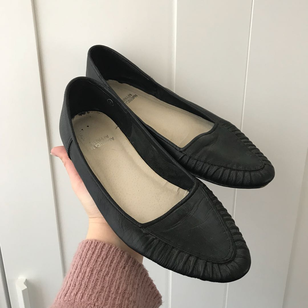 American Apparel leather flats