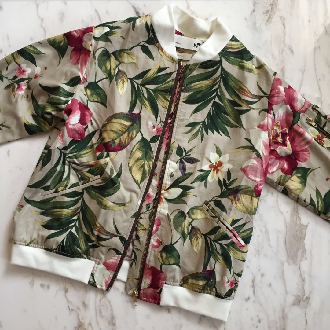 Argyle & Oxford Hawaiian Bomber Jacket