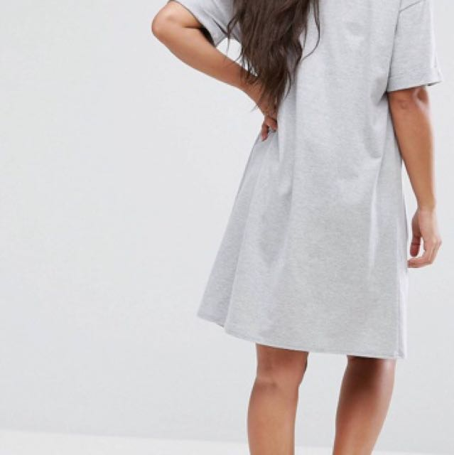 ASOS maternity ultimate t-shirt dress with rolled sleeves
