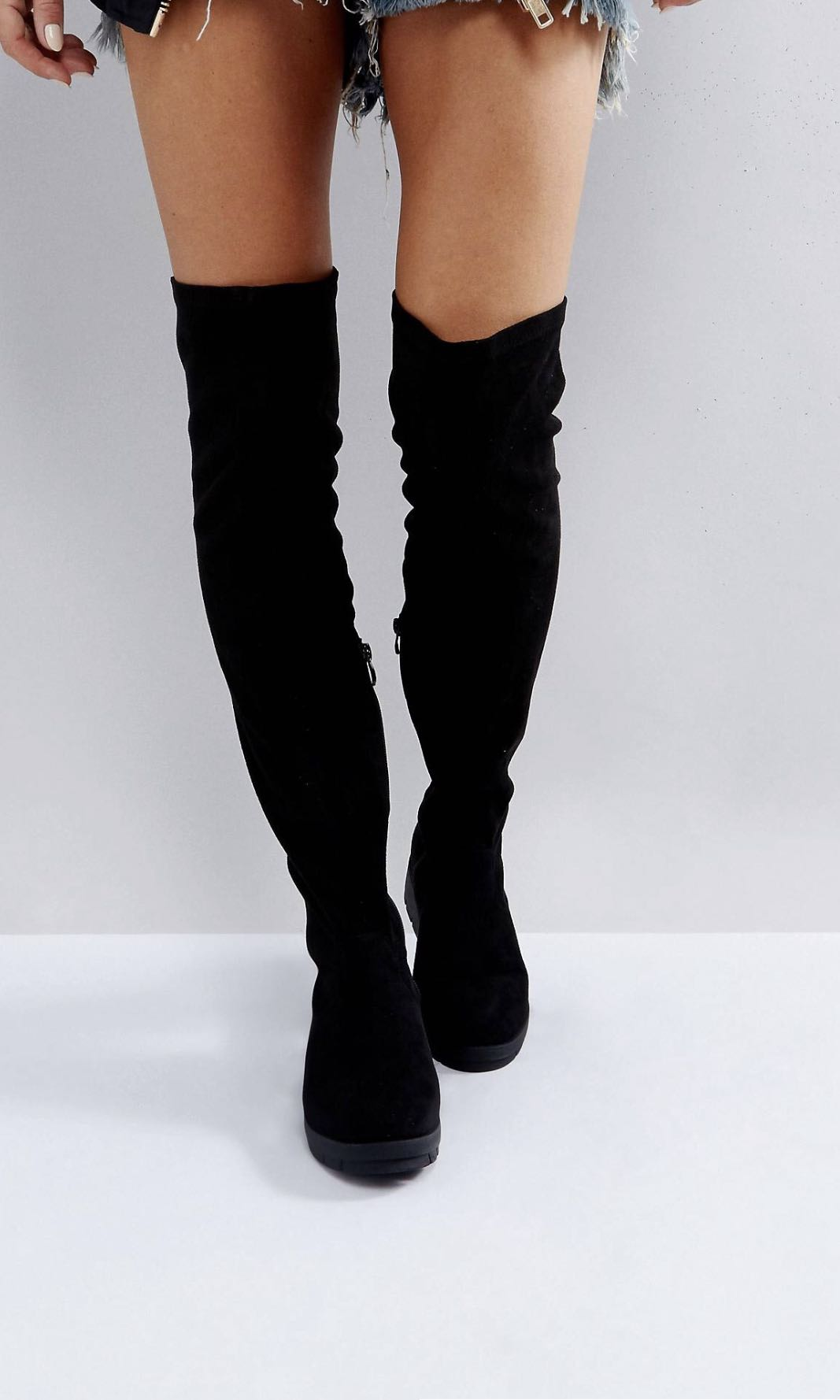 cdfcdacf232 Asos Truffle Collection Stretch Over Knee Boots